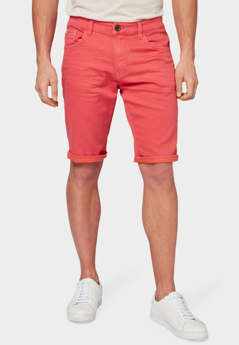 TOM TAILOR - Denim shorts - red