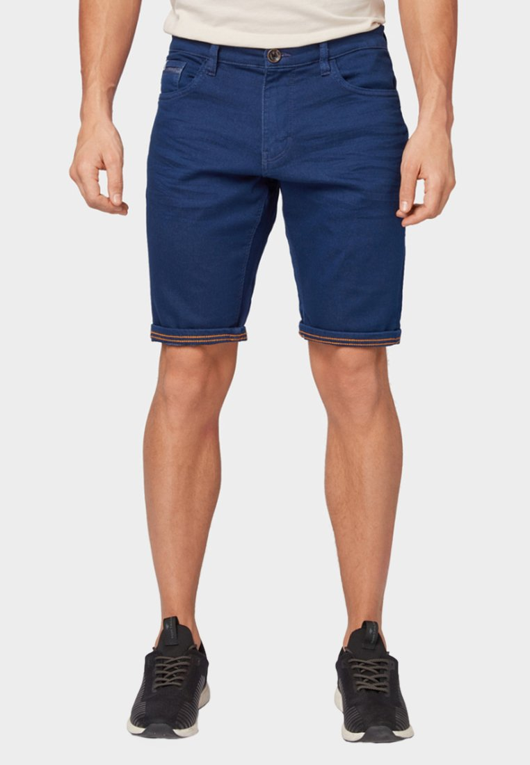 TOM TAILOR - Denim shorts - mottled dark blue