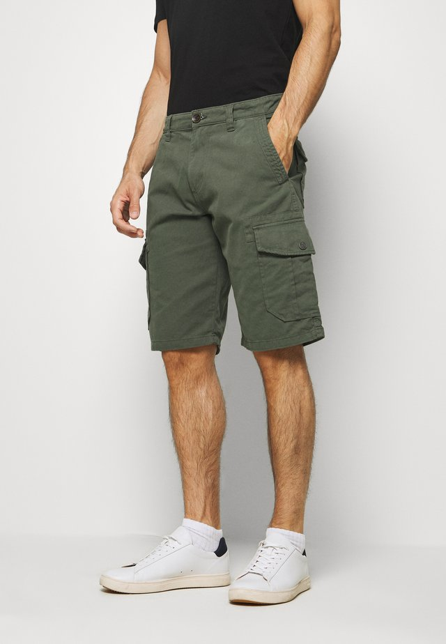 Pantaloni cargo - dark thyme