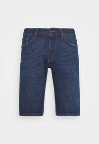 TOM TAILOR - JOSH SUPERSTRETCH - Denim shorts - dark stone wash denim - 4