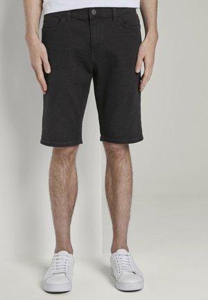 JOSH SUPERSTRETCH - Denim shorts - black stone wash denim