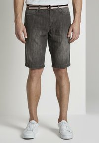 TOM TAILOR - Shorts di jeans - grey denim - 0