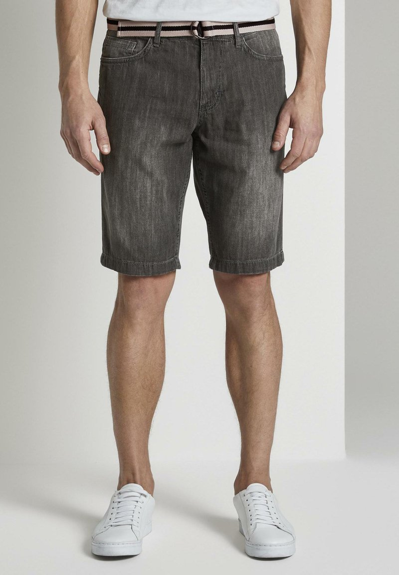 TOM TAILOR - Shorts di jeans - grey denim