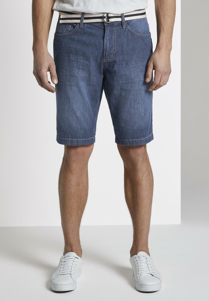 TOM TAILOR - Shorts di jeans - mid stone wash denim