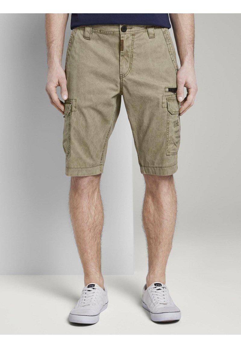 TOM TAILOR - Shorts di jeans - honey camel beige