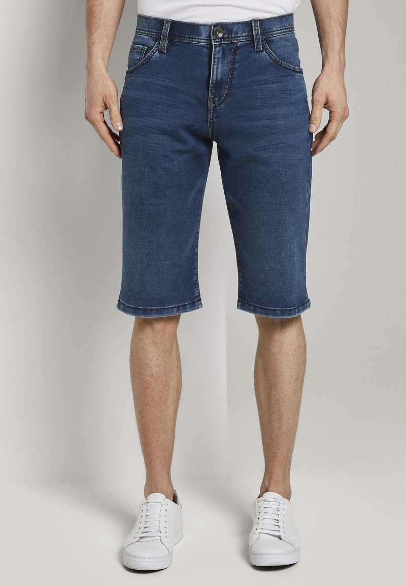 TOM TAILOR - Shorts di jeans - used mid stone blue denim