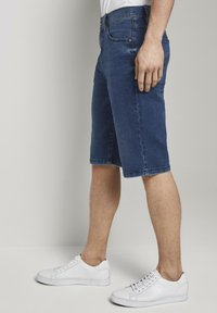 TOM TAILOR - Shorts di jeans - used mid stone blue denim - 3