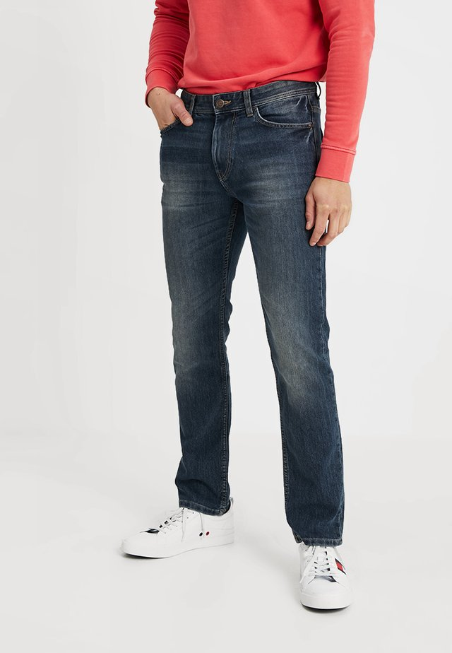 MARVIN - Jeans straight leg - mid stone wash denim blue