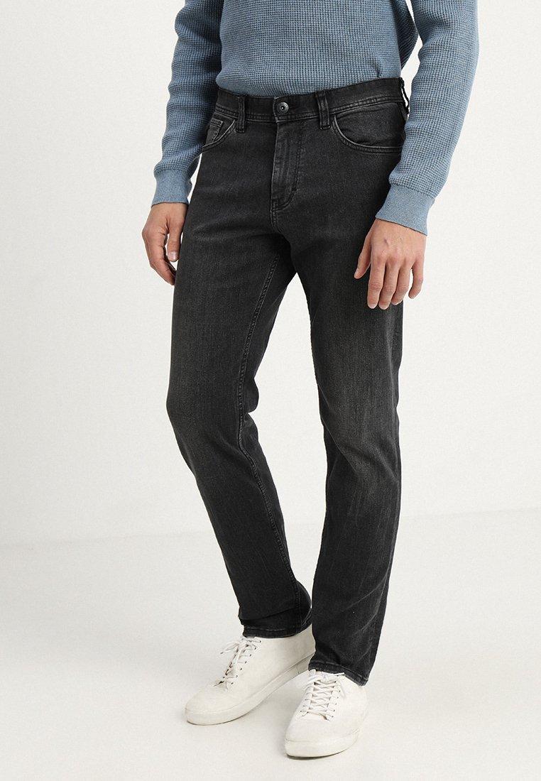 TOM TAILOR - MARVIN - Straight leg jeans - black stone wash denim grey