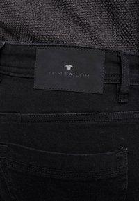 TOM TAILOR - JOSH - Vaqueros slim fit - clean raw black denim - 4