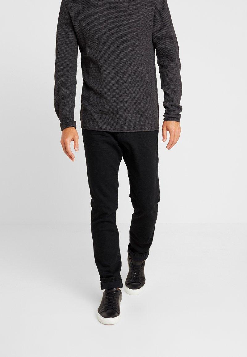 TOM TAILOR - JOSH - Slim fit jeans - clean raw black denim