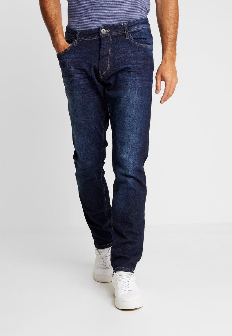 TOM TAILOR - JOSH - Slim fit jeans - dark stone wash denim
