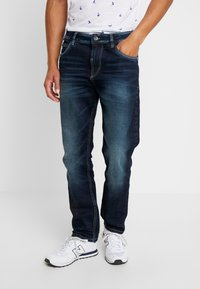 TOM TAILOR - TRAD - Jeans relaxed fit - dark stone wash denim blue - 0