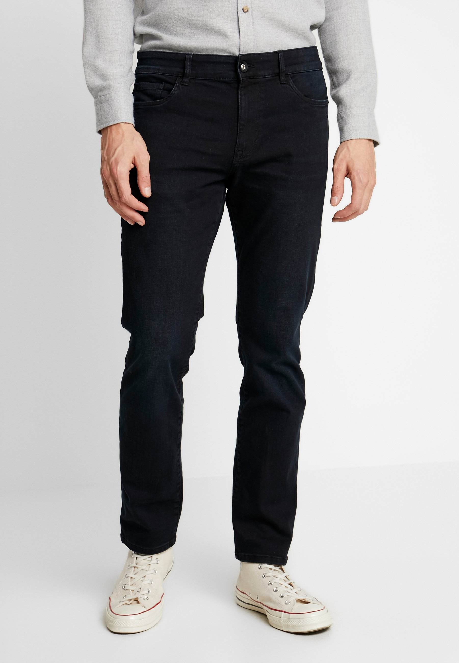 TOM TAILOR JOSH - Jeansy Slim Fit - blue/black denim