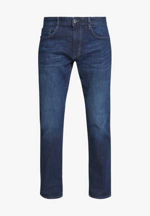 MARVIN - Jean droit - dark stone wash denim blue