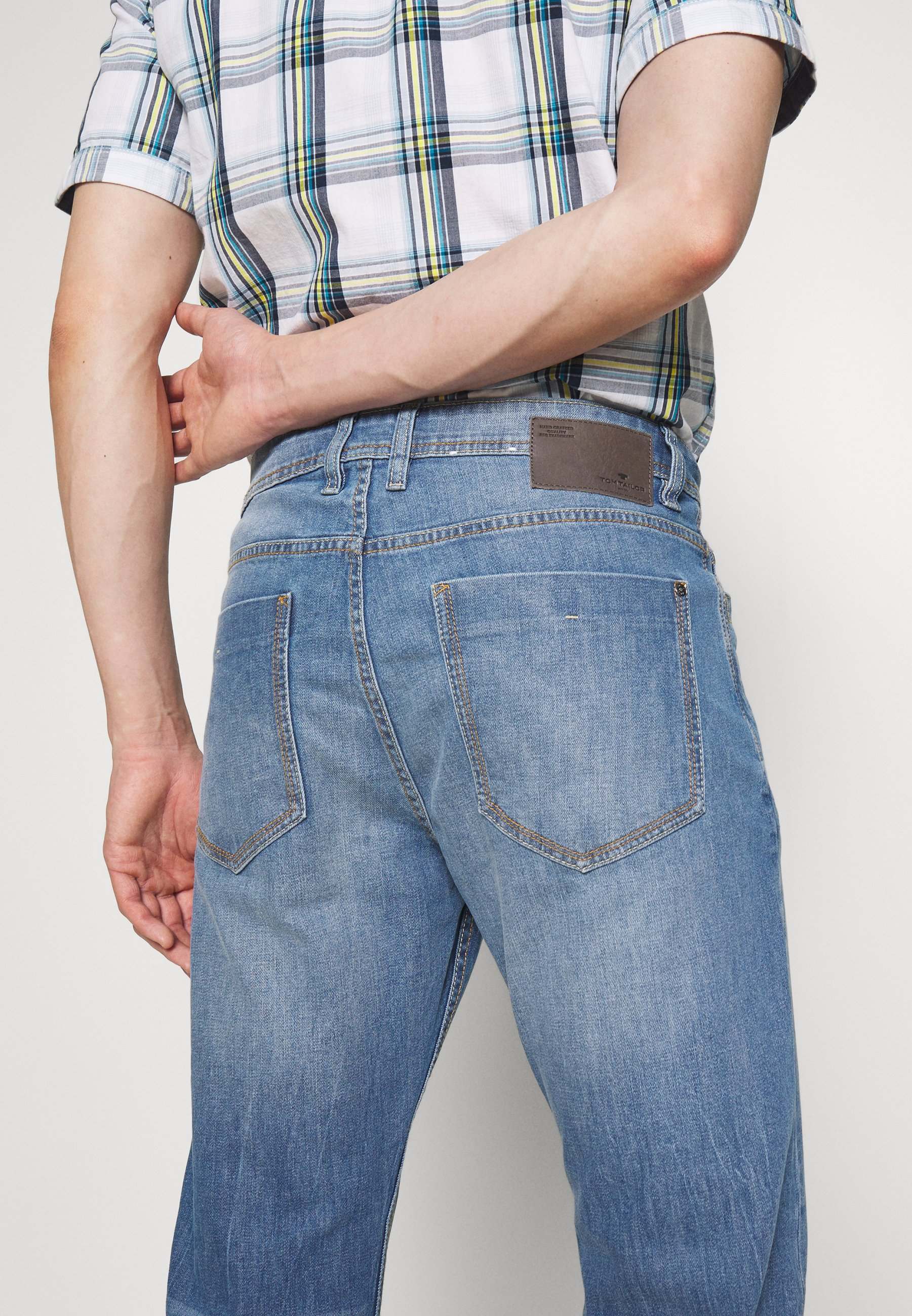 Tom Tailor Trad - Straight Leg -farkut Mid Stone Wash Denim Blue