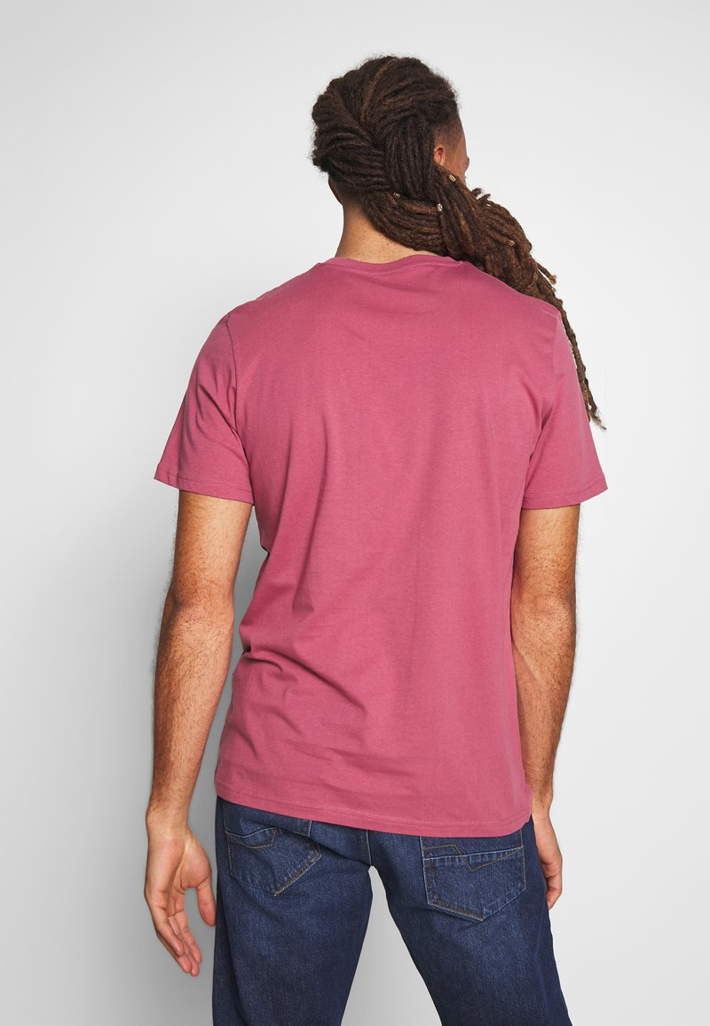 TOM TAILOR LOGO TEE - T-shirts med print - wine rose pink