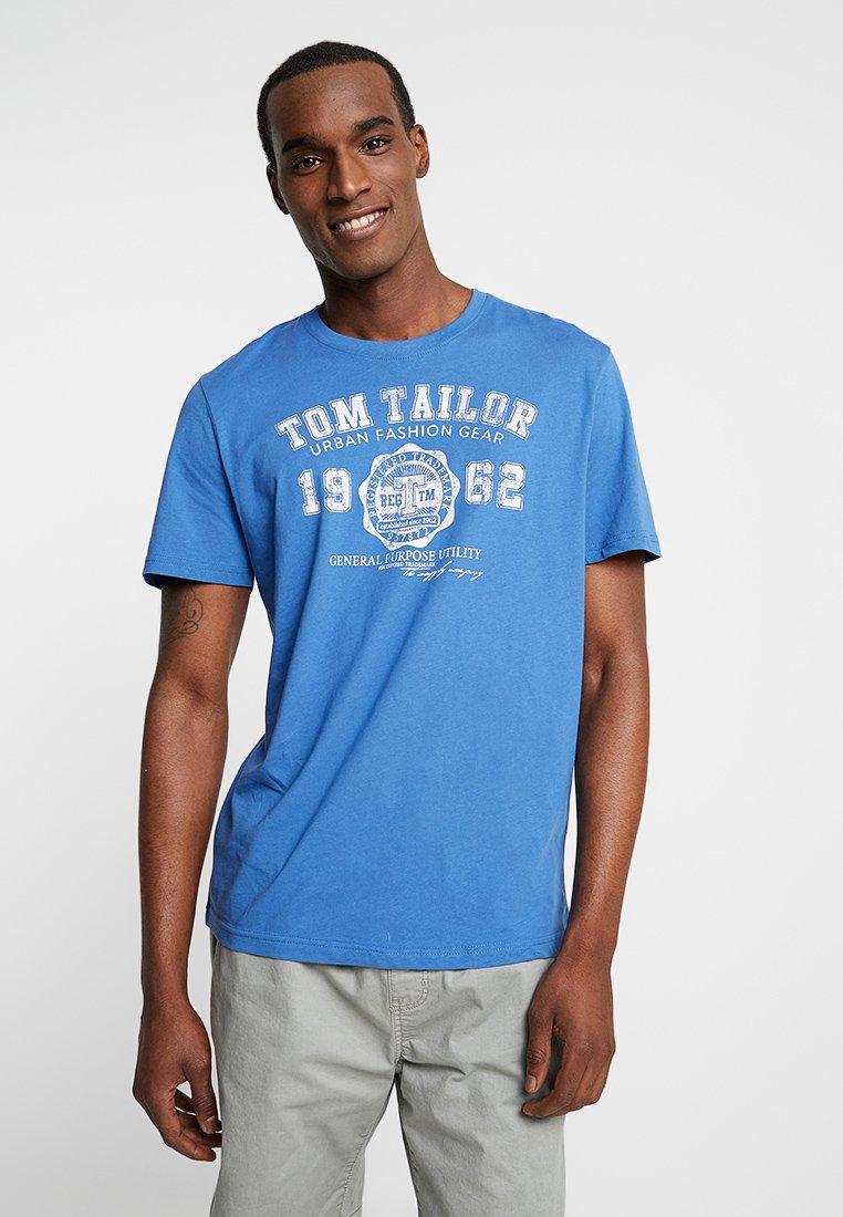 TOM TAILOR - LOGO TEE - T-shirt con stampa - midsummer blue