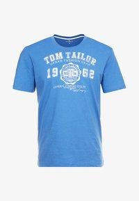 TOM TAILOR - LOGO TEE - T-shirt con stampa - midsummer blue - 3