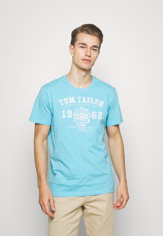 LOGO TEE - T-shirts print - crystal sea blue
