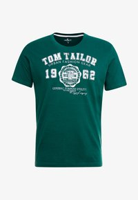 TOM TAILOR - LOGO TEE - Triko s potiskem - june bug green - 3