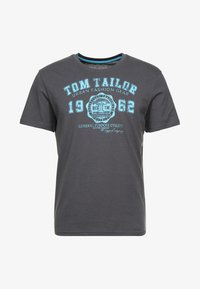 TOM TAILOR - LOGO TEE - T-shirt med print - tarmac grey - 3