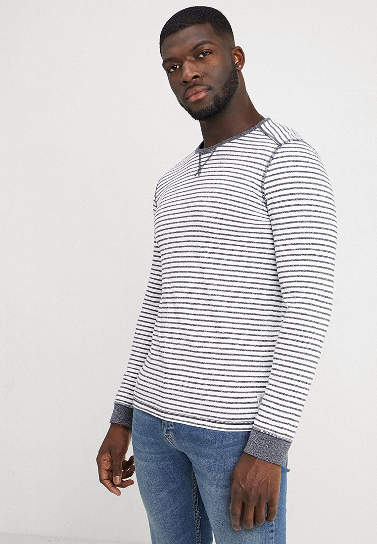 TOM TAILOR - COSY - Long sleeved top - navy/white