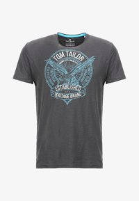 TOM TAILOR - T-shirt con stampa - tarmac grey - 4