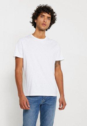 TEE - Triko spotiskem - white grey minimal