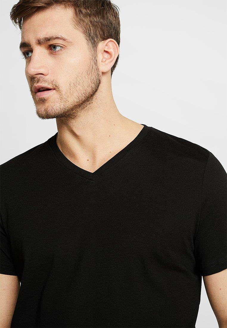 TOM TAILOR - V-NECK TEE 2 PACK - Basic T-shirt - black