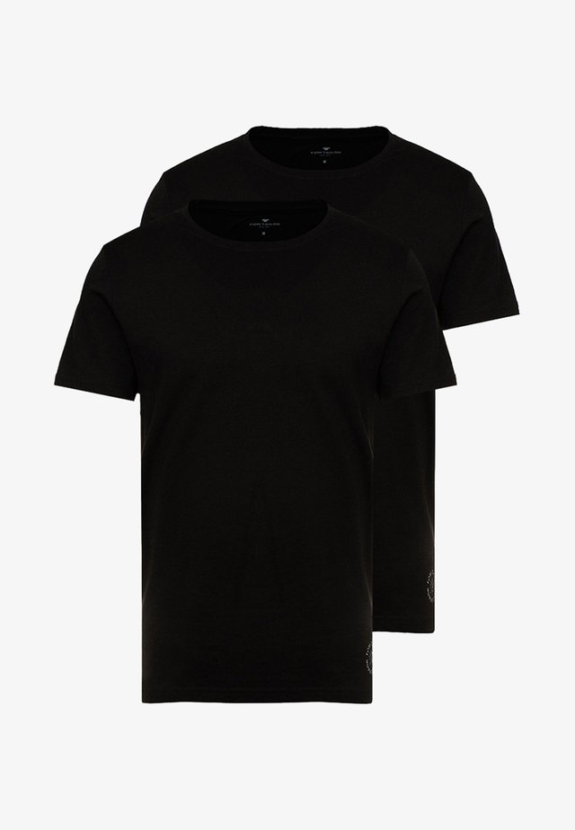 DOUBLE PACK CREW NECK TEE - T-shirts - black