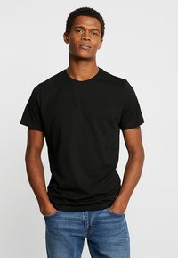 TOM TAILOR - DOUBLE PACK CREW NECK TEE - T-shirt basic - black - 1