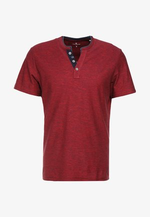 BASIC HENLEY - T-Shirt basic - brilliant red/navy
