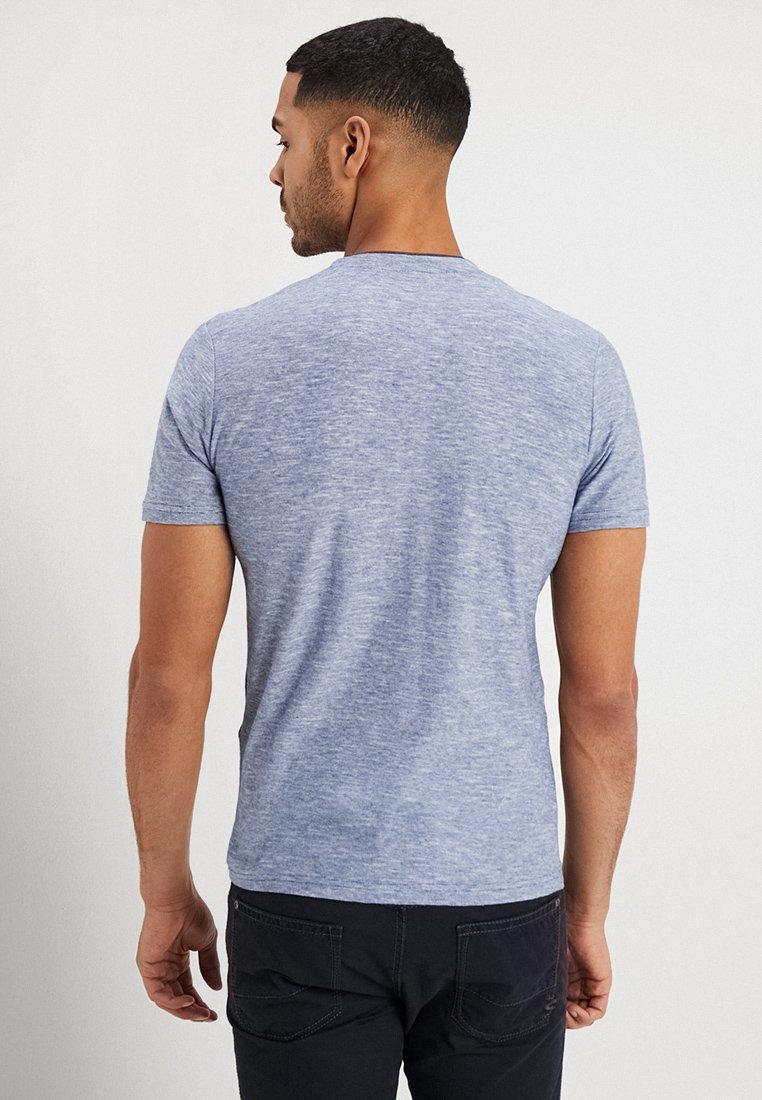 TOM TAILOR BASIC HENLEY - T-shirt basic - estate blue
