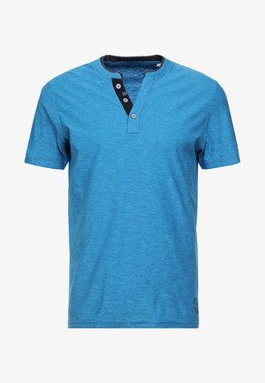 BASIC HENLEY - T-paita - coastal blue