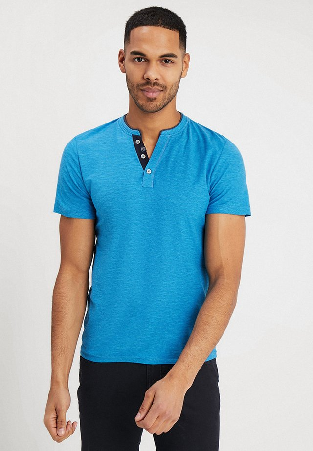 BASIC HENLEY - T-shirts - coastal blue
