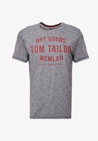 TOM TAILOR - FINE TEE - T-shirt con stampa - navy/white - 4