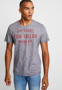 TOM TAILOR - FINE TEE - T-shirt con stampa - navy/white - 0