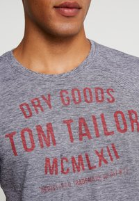 TOM TAILOR - FINE TEE - T-shirt con stampa - navy/white - 5