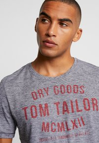 TOM TAILOR - FINE TEE - T-shirt con stampa - navy/white - 3