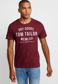 TOM TAILOR - FINE TEE - T-shirt con stampa - red/navy - 0