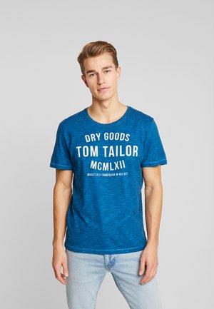 FINE TEE - T-shirt con stampa - blue navy