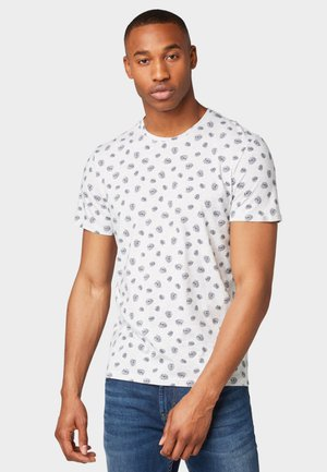 T-shirt print - white melange