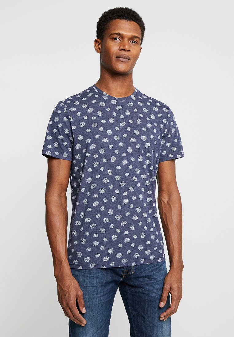 TOM TAILOR - T-shirts print - navy/white