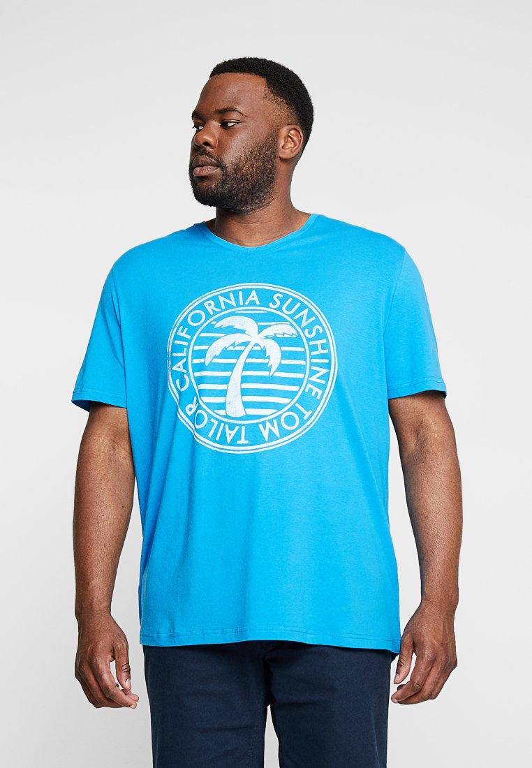 shirt SummerT Middle Tailor Tom Imprimé Brilliant Blue E2WH9IDY