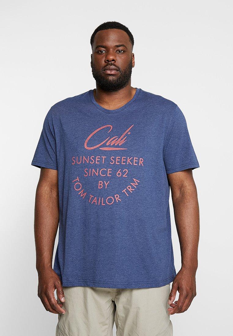 TOM TAILOR - SUMMER - Print T-shirt - blue depths white melange