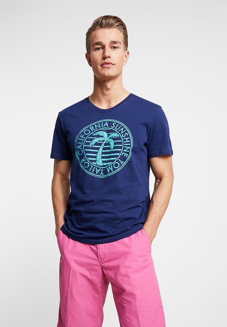 TOM TAILOR - SUMMER  - Print T-shirt - cosmos blue