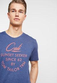 TOM TAILOR - SUMMER  - Print T-shirt - blue depths/white melange - 4