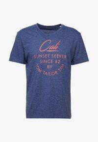 TOM TAILOR - SUMMER  - Print T-shirt - blue depths/white melange - 3
