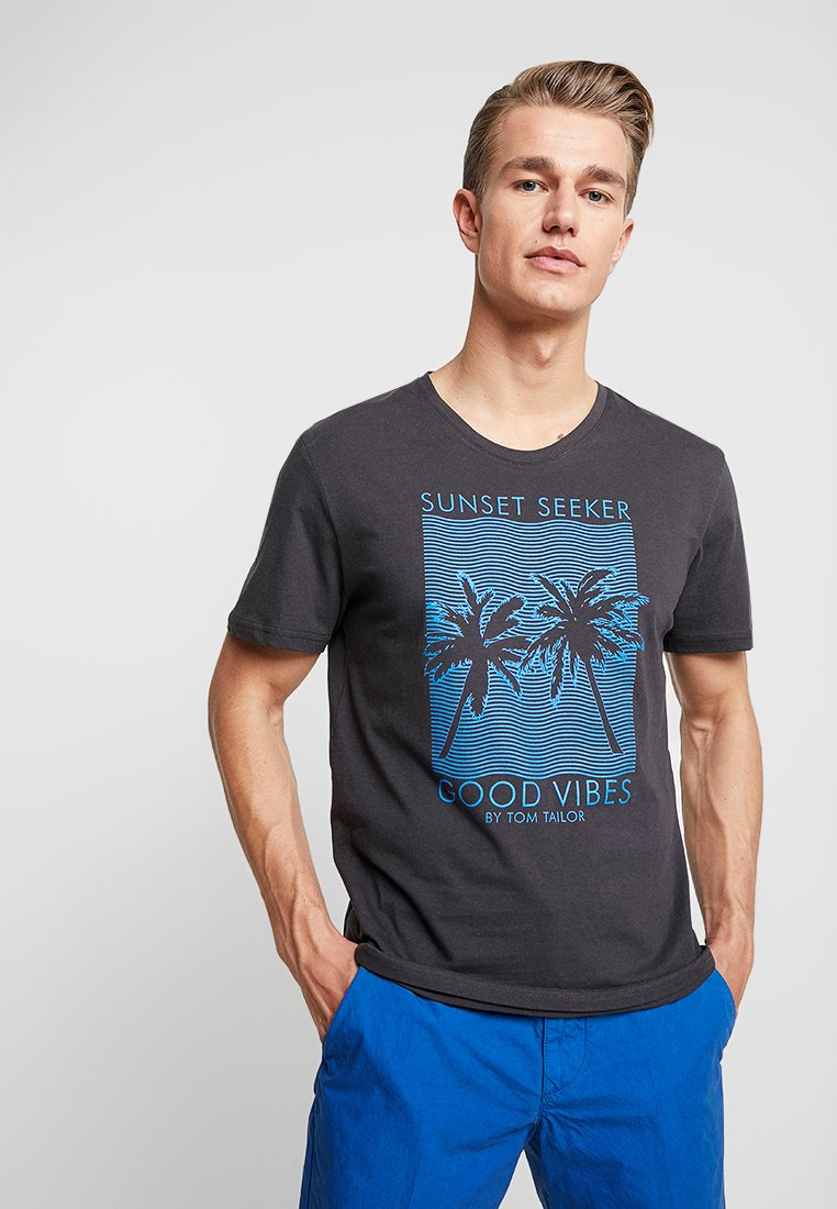 TOM TAILOR - SUMMER  - T-shirt print - phanton dark grey